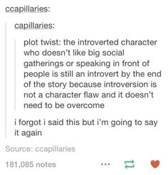 Introverted Characters