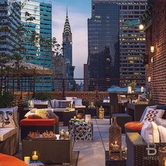 My Park Avenue penthouse terrace!  We have a great NYC view from here!~