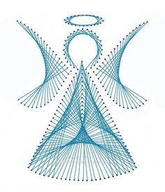 Angel how to string art
