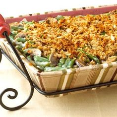Fresh Green Bean Casserole- many other recipes for T-day with a diabetic