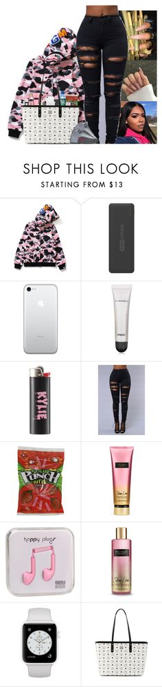 """"""""""" by kennisha84 ❤ liked on Polyvore featuring A BATHING APE, Tzumi, MAC Cosmetics, Victoria's Secret, Happy Plugs, M.A.C and MCM"""