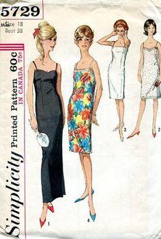 60's Eveningwear Slip Dress