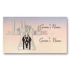 New York Gay Website Wedding Card Business Card Templates