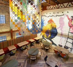 Nando's restaurant by BuckleyGrayYeoman, Dundee UK bar and restaurant