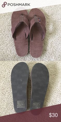 Brown Rainbows Brown Rainbow flip flops. Size medium fits women size 6.5-7.5. No visible wear. Only worn once. Rainbow Shoes Sandals