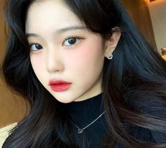 Korean Beauty Girls, Pretty Korean Girls, Cute Korean Girl, Asian Girl, Korean Natural Makeup, Korean Makeup Look, Asian Makeup, Cute Kawaii Girl, Cute Girl Face