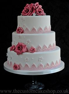 The Claire - Wedding Cake by thecustomcakeshop, via Flickr