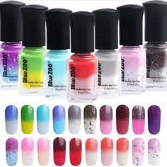 eBay 20-Farben-Thermolack-Peel-Off-Farbwechsel-Nagellack-Nail-Color-Changing-Polish