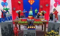 decoração-festa-vingadores-liga-justiça