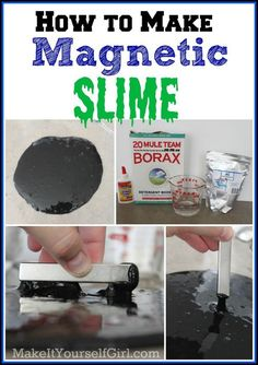 how to make magnetic slime with borax