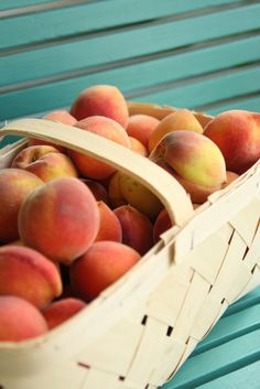 Summer peaches in South Carolina.