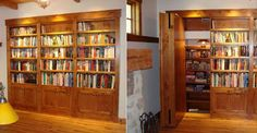 what better to hide behind a secret bookshelf than... more books!