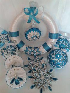 Dekorácie - vianočný venček tyrkysový - 7347229_