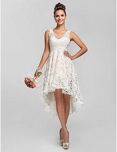 Bridesmaid dresses to return home an asymmetrical lace neckline dress Princess Line V of 2016 to $ 80.99