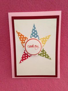 This card is CASEd by another one I found at Pinterest. Birthday card for  boys and girls.