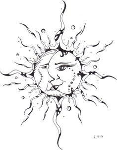 Sun Kissing The Moon Drawing Moon And Sun Drawing Pencil