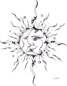 Sun Kissing The Moon Drawing Moon And Sun Drawing Pencil