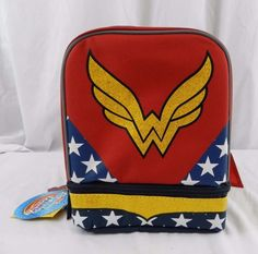 d46373904507 New Wonder Woman Lunch Box Bag Kit With Cape Super Hero Movie  WONDERWOMAN   LunchBox