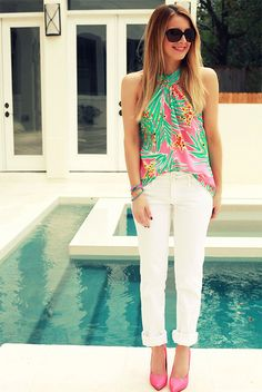 Cute trendy Lilly Pulitzer outfit. #SummerinLilly
