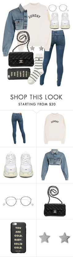 """""""Untitled #23234"""" by florencia95 ❤ liked on Polyvore featuring Levi's, Balenciaga, Off-White, Ahlem, Chanel, ban.do, Gucci and Polo Ralph Lauren"""