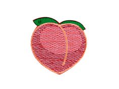 Look at that plump-n-perky peach! The peach emoji patch is cute fruit without the mess! This adorable emoji patch is the perfect addition to your