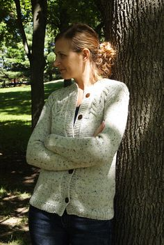 this would be really cute to convert into a pullover with a button-up front.  henly-style.  http://www.ravelry.com/patterns/library/antler-cardigan