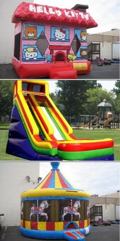 Jump4Adan provides inflatable party rentals which include dry and water slides, combos and much more. They also rent out canopies, tables and chairs for all types of parties.