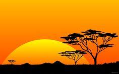 Scenery safari sunrise africa