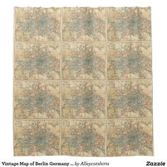 Vintage Map of Berlin Germany (1904) Shower Curtain