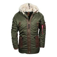Alpha Industries Herren Parka N3-B3 Dark Green (grün)