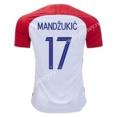 d0aa55caa 2018 World Cup Croatia Home Red  17(Mandžukić)Thailand Soccer Jersey AAA  World