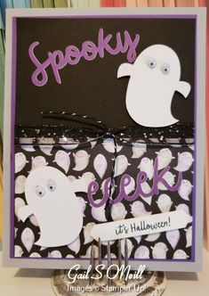2018 - Cards also using Cauldron Bubbles and matching DSPpaper pumpkin alternatives 2018 Halloween 2018, Halloween Cards, Fall Halloween, Pumpkin Cards, Paper Pumpkin, Toil And Trouble, Cauldron, Pumpkins, Stampin Up