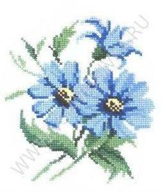 вышивка крестом схемы васильки ile ilgili görsel sonucu Beaded Embroidery, Cross Stitch Embroidery, Hand Embroidery, Cross Stitch Patterns, Crochet Cross, Cross Stitch Flowers, Cross Stitching, Blue Flowers, Needlework