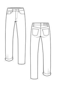 Morgan Boyfriend Jeans pattern // by Closet Case Files