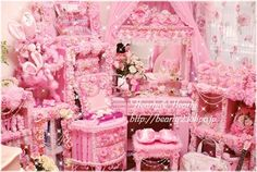 Everything pink...Wow..that's a lot of pink