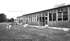 The children out at playtime in this school in Horndean in the 60s. #Horndean, The School c.1960  #francisfrith #nostalgia #schooldays