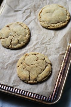 Perfect Peanut Butter Cookies for Two via The Baker Chick