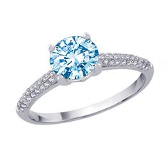 1 Carat Blue Diamond Engagement Ring this would be so beautiful on my hand!!!!