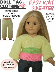 Beginner knitting pattern... great for someone just learning to knit!