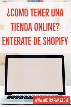 Emprende un negocio. Empieza tu negocio online de forma fácil usando shopify.