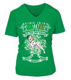 Saint Patrick Jour Être Irlandais Dalmatian Chien   Funny Dalmatian T-shirt, Best Dalmatian T-shirt
