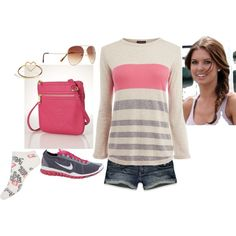 """""""Casual pink & grey"""" by yjmunson on Polyvore"""