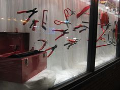 hardware store window display   goal is to make our windows 99% hardware. Everything in the windows ...