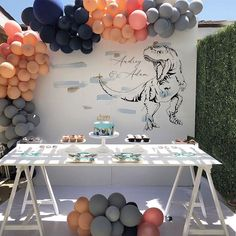 "HANA PARTY on Instagram: ""Dinosaur Theme, Birthday party Planning and Decorations: @hanapartycom…"" Hana, 1st Birthday Parties, Party Planning, Babyshower, Decorations, How To Plan, Instagram, Baby Shower, Baby Sprinkle"