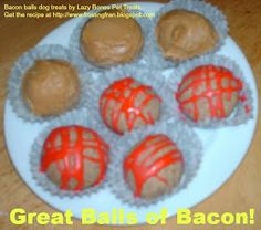 Great Balls of Bacon! Bacon Grease Dog Treats