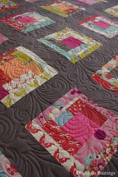 Bridie's Quilt by QOB, via Flickr ~ this might be a good pattern to use with the old family fabric & clothing