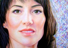 """Decadent Kim , colored pencil, 5"""" x 7""""  by Mary Jones Easley"""