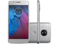 "Smartphone Motorola Moto G5s 32GB Prata - Dual Chip 4G Câm. 16MP + Selfie 5MP Tela 5,2"""