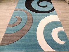 3 Koru Design Modern Turkish Rug Size: 160 x Turkey Colors, Machine Made Rugs, Living Room Modern, Rugs Online, Grey And White, Rug Size, Modern Design, Kids Rugs, The Incredibles
