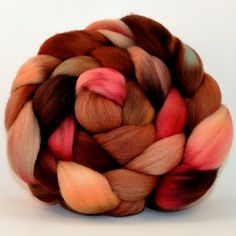 Polwarth Roving Hand Dyed Chestnut  Combed top by clawtreefibers, $15.00